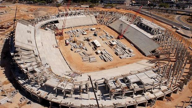 Obras Estádio das Dunas copa 2014 (Foto: Arena)