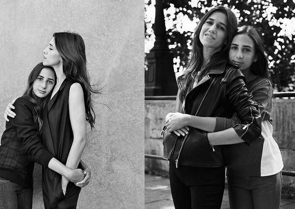 Ao lado da filha Alice Attal – na época, com apenas 12 anos – na campanha do inverno 2015 da marca Comptoir des Cotonniers (Foto: Reprodução)
