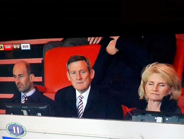 BLOG: O jogo do Sunderland foi tão chato que a esposa do presidente caiu no sono