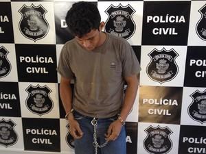 Leandro Arruda, 21, confessou que estuprou criança de 9 anos (Foto: Fernanda Borges/G1)
