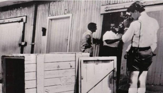 Spiers usou sua experiência no despacho de bagagens para fazer um envio a cobrar (Foto: Marcus McSorley/BBC)