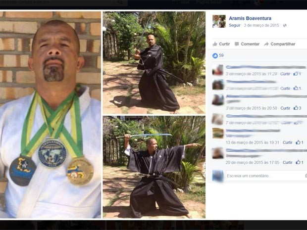 Lutador de jiu-jitsu é suspeito de matar a mulher asfixiada em Saquarema (Foto: Reprodução / Facebook)