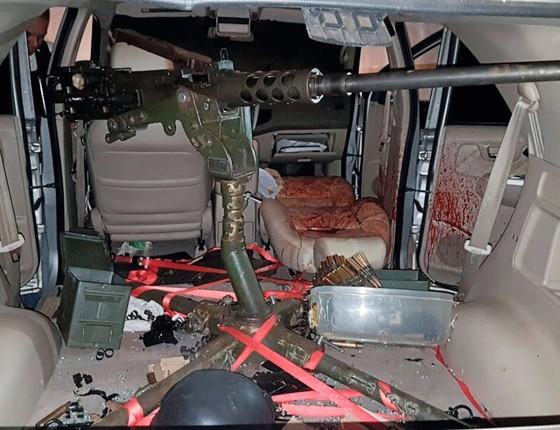 Metralhadora usada para matar Jorge Rafaat (Foto:  )