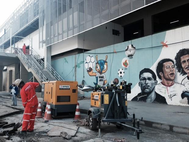 Obra no Rio de Janeiro ainda passava por obras no início de junho (Foto: Gabriel Barreira/G1)