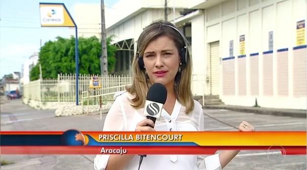 Priscilla Bitencourt falou ao vivo ao Bom Dia Brasil nesta quarta-feira, 13 (Foto: Divulgação/TV Sergipe)