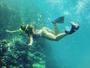 Ludmila Dayer mostra bumbum empinado durante mergulho