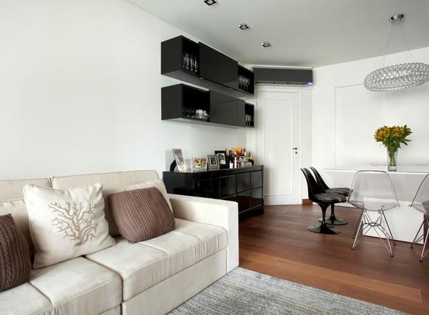 Beatriz Quinelato; apartamento; sala de estar e jantar (Foto: Divulgação)