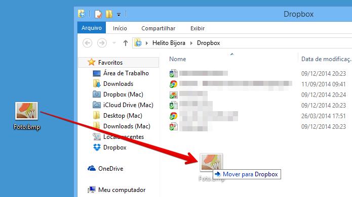 Envie o arquivo para a sua conta do Dropbox (Foto: Reprodução/Helito Bijora)
