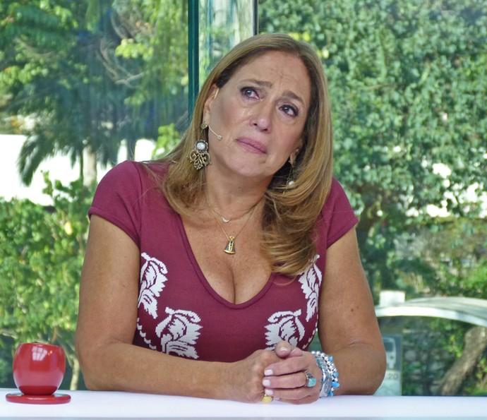 Susana Vieira se emociona com história de telespectadora e ao relembrar cenas de 'Senhora do Destino' (Foto: Brunella Menezes / Gshow)