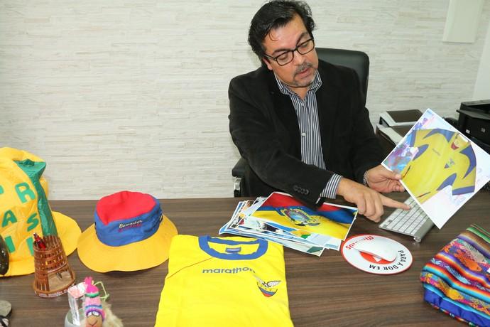 Médico equatoriano José Leonardo Espinosa Viamão Copa do Mundo (Foto: Laion Espíndula/Globoesporte.com)