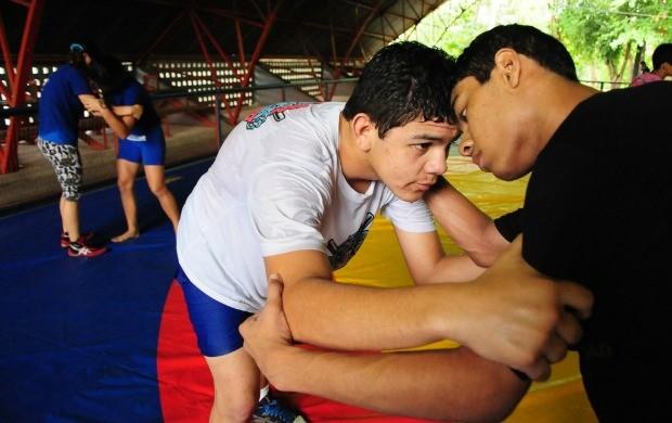 luta olímpica manaus (Foto: Michael Dantas/Sejel)