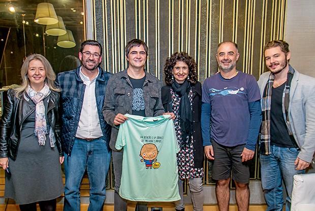 Elpis Ziouva, Vagner Carvalho (do ITACI), Samuel Rosa, Marina Pechlivanis, Dudu Marote e Ricardo Calegari (Foto:  )