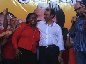 Daiana Ramos e Jorge Amanajás confirmara aliança para o governo (Foto: John Pacheco/G1)