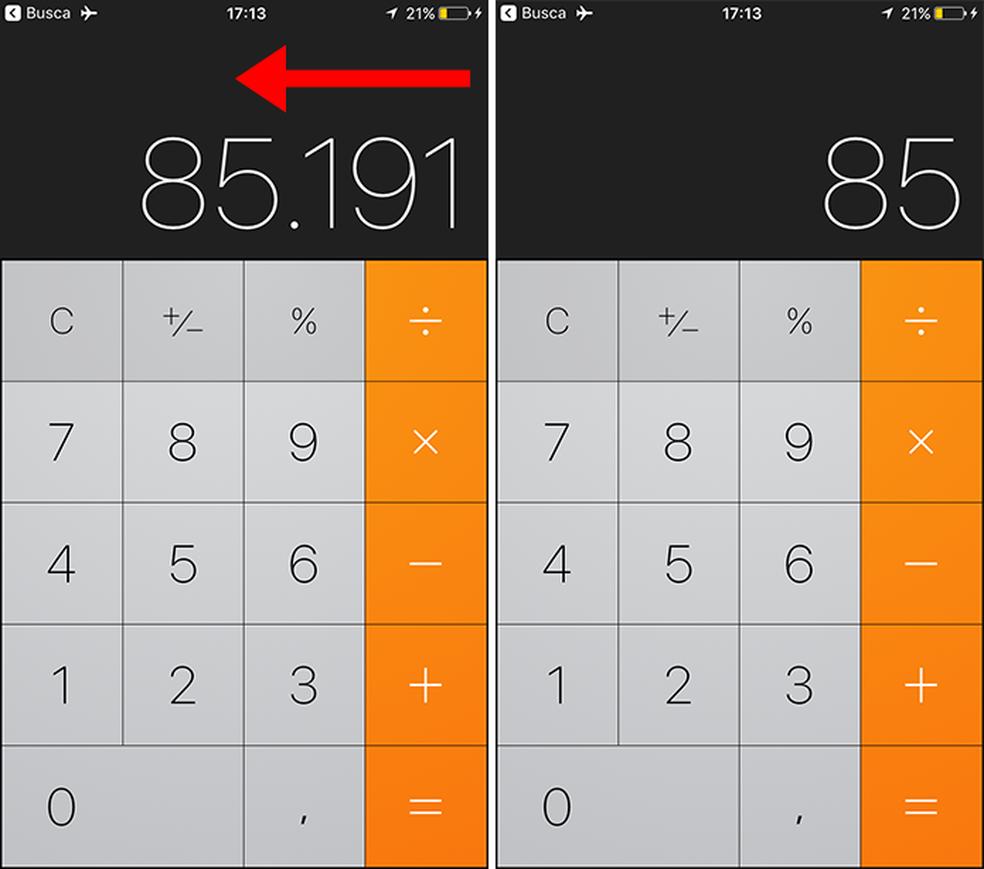 iPhone (iOS): apague números com um gesto (Foto: Reprodução/Paulo Alves)