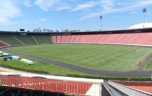 Estádio Municipal João Havelange, Parque do Sabiá (Foto: Felipe Santos/GLOBOESPORTE.COM)