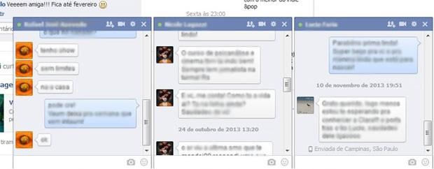 Facebook faz alteração no bate papo que aproxima o chat do visual de aplicativos de mensagens. (Foto: Reprodução)