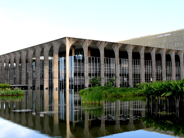 Itamaraty, na Esplanada dos Ministérios, em Brasília (Foto: Vianey Bentes/TV Globo)