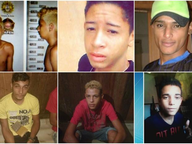Mortes foram registradas na capital acreana entre sábado (3) e terça (6) (Foto: Divulgação/Polícia Civil, Arquivo de família e Reprodução/Rede Amazônica Acre)