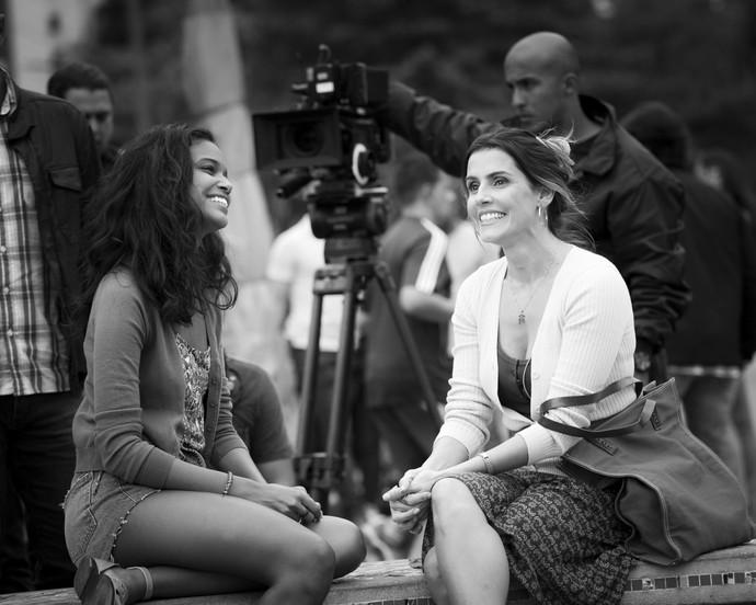 Que lindas! Deborah e Aline são só alegria! (Foto: Raphael Dias/Gshow)