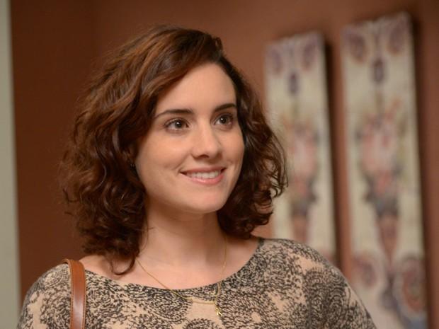 Lara curte um belo make natural  (Foto: Rafael Dias/TVGlobo)