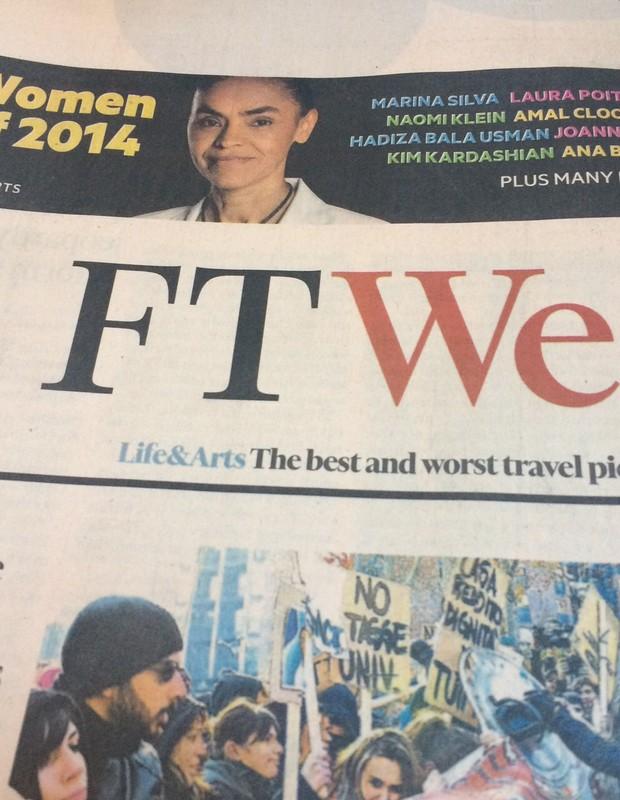 Marina Silva é eleita 'mulher do ano' por jornal britânico (Foto: Divulgação)