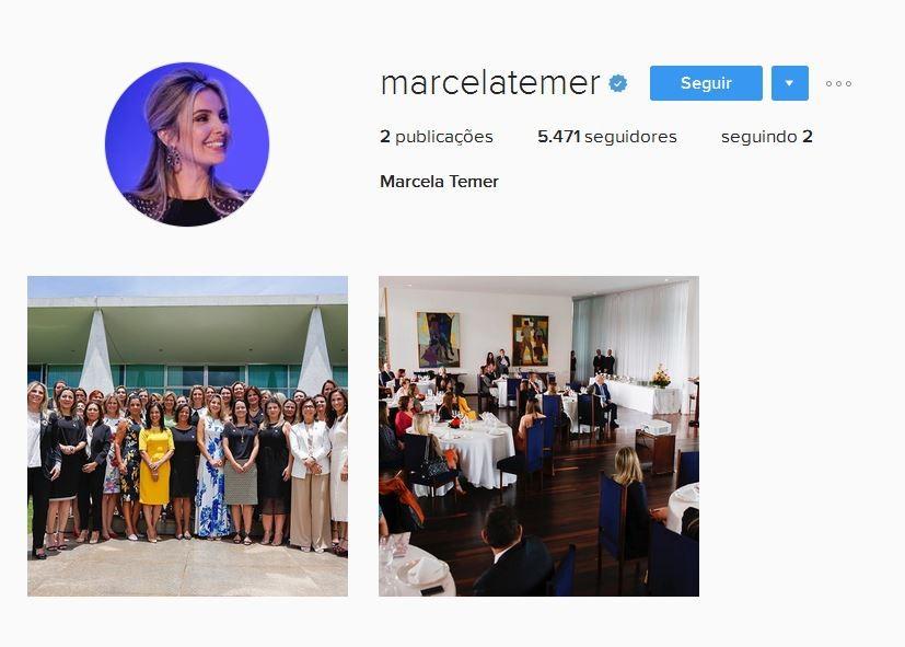 Marcela Temer no Instagram (Foto: Reprodução)