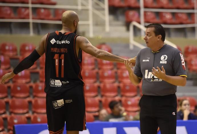 Vasco x Flamengo jogo falado NBB Arena da Barra (Foto: André Durão)