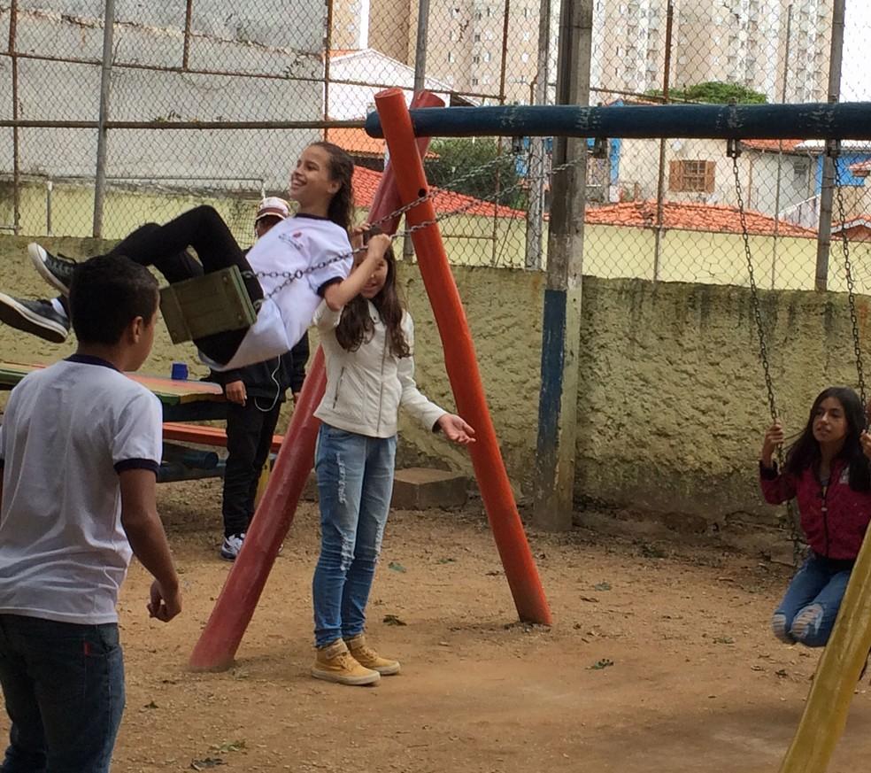 Turma descobriu o que é autismo após a matrícula de Yasmin.  (Foto: Luiza Tenente/G1)