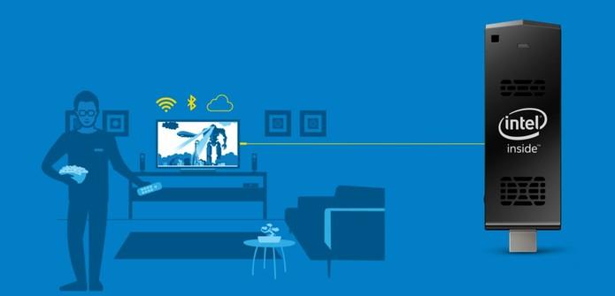 Intel Compute Stick é mais indicado para atividades leves, como ver filmes no dia a dia (Foto: Divulgação/Intel)