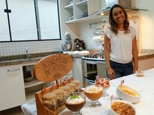 Luana trocou 10 anos como professora para vender doces internacionais (Foto: Arquivo pessoal)