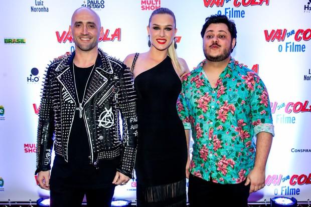 Paulo Gustavo, Fiorella Matheis e Marcus Majella (Foto: Marcos Ribas/Photo Rio News)
