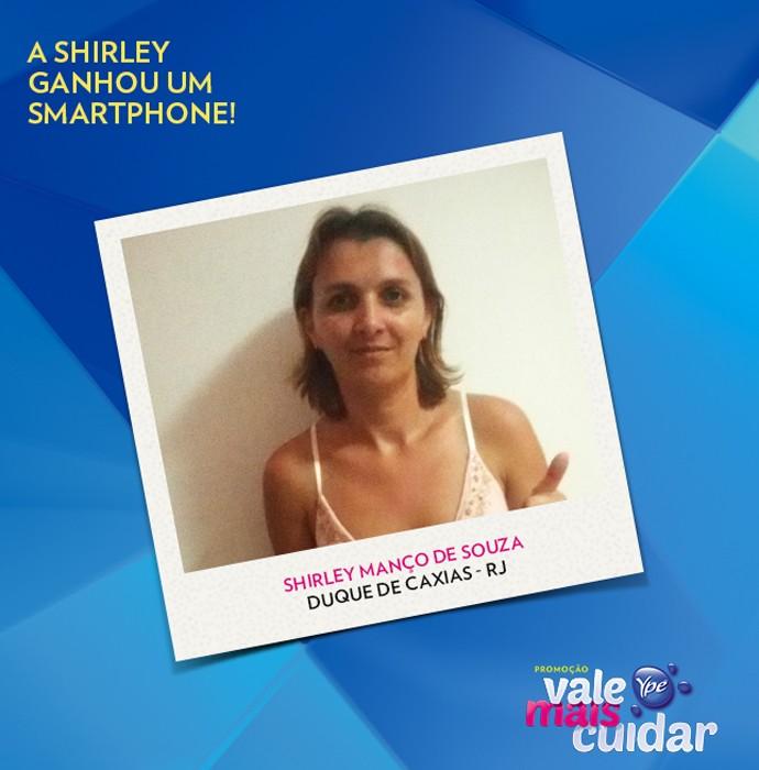 Shirley ficou feliz da vida com o prêmio de Ypê (Foto: Divulgação)