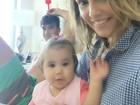 Deborah Secco posta foto em família: 'Melhor domingo'