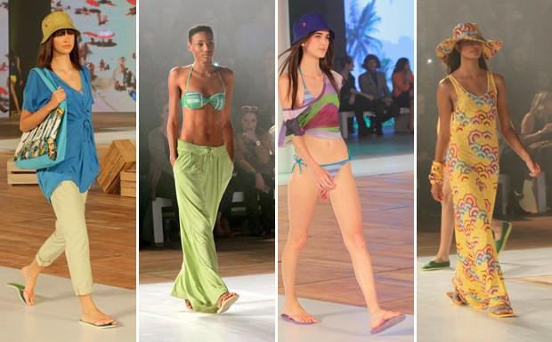 Desfile lanamento da coleo de roupas da Havaianas - looks femininos (Foto: Divulgao/Paduardo AG News)