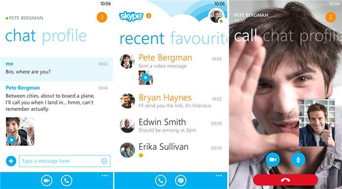 Skype é um serviço de mensagens com integração total ao Windows Phone e chamada de voz e vídeos gratuitas (Foto: Divulgação/Windows Phone Store)
