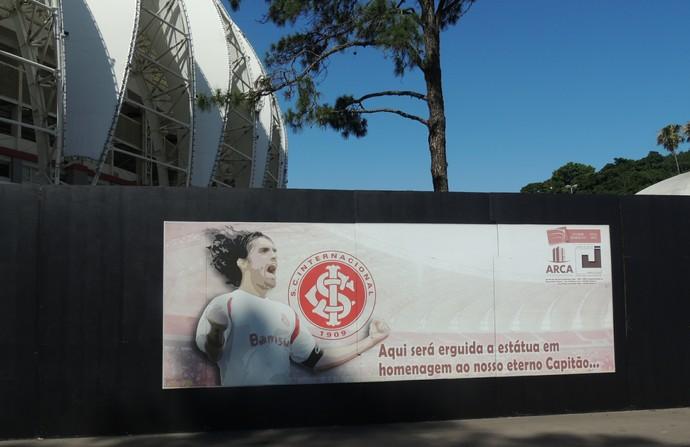 Espaço para estátua de Fernandão no Beira-Rio (Foto: Tomás Hammes / GloboEsporte.com)