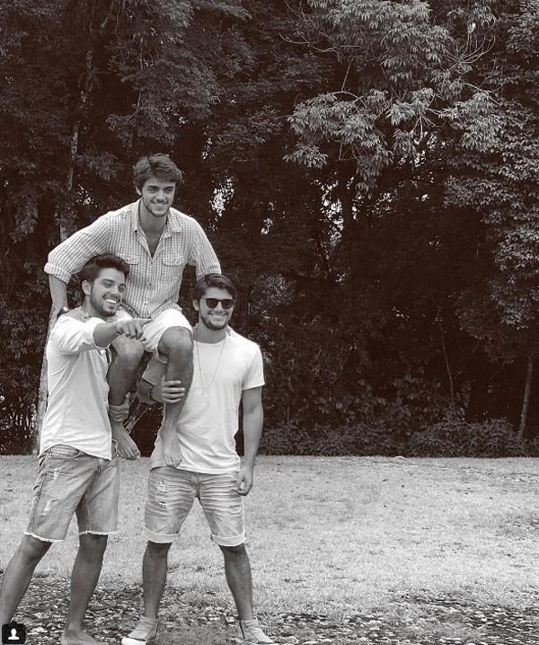Bruno Gissoni, Rodrigo Simas, Felipe Simas (Foto: Reprodução / Instagram)