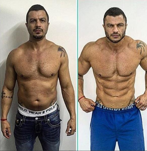 Kléber Bambam mostra antes e depois (Foto: Reprodução/Instagram)
