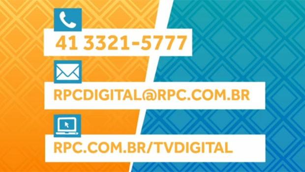 TV Digital (Foto: Reprodução/RPC)