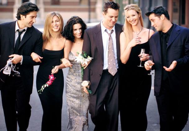 """O elenco do seriado """"Friends"""" (Foto: Divulgação)"""