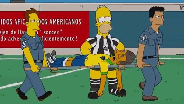 """Episódio de """"Os Simpsons"""" que prevê lesão de Neymar (Foto: Reprodução)"""