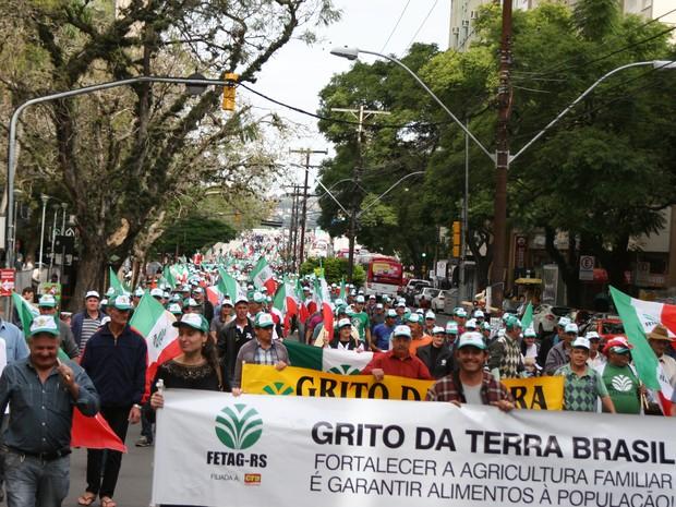 Protesto foi realizado na região central de Porto Alegre (Foto: Alexandre Scheifler/Divulgação)
