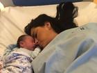 Bianca Leão fala sobre nascimento do filho: 'Choro todas às vezes de emoção'