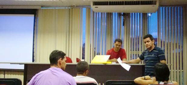 Reunião Fundespi - Jogos da Juventude (Foto: Náyra Macêdo/GLOBOESPORTE.COM)