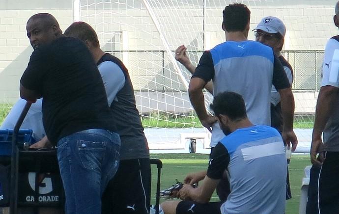 Daniel Carvalho e René Simões, Botafogo (Foto: Edgard Maciel)