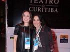 Gabriela Duarte e Regina Duarte vão a festival de teatro em Curitiba