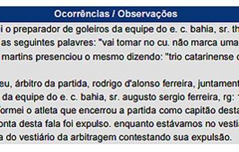"""Em súmula, árbitro relata xingamento de Guto: """"Trio catarinense de m..."""""""