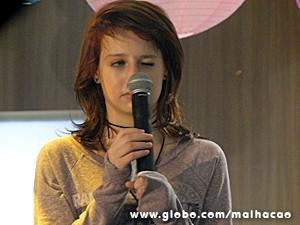 Giovana está decidida a brilhar na música (Foto: Malhação / TV Globo)