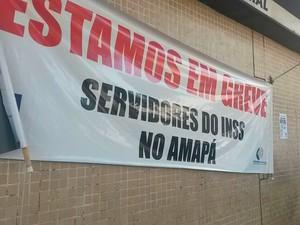 Greve atinge todas as agências no Amapá (Foto: Abinoan Santiago/G1)
