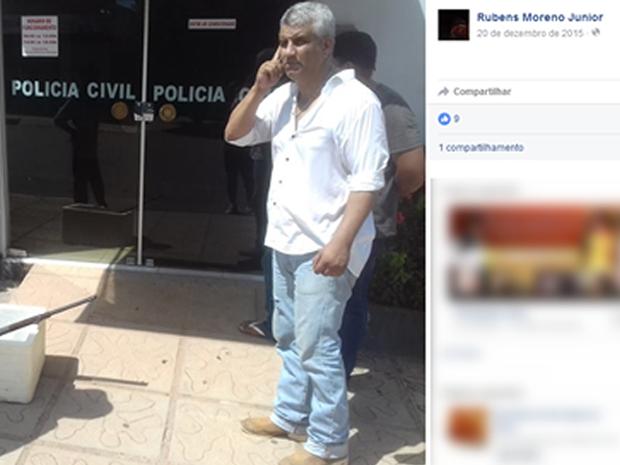 Rubens Moreno Rubio Júnior foi morto a tiros em Alta Floresta (Foto: Reprodução/ Facebook)